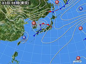 実況天気図(2019年10月03日)