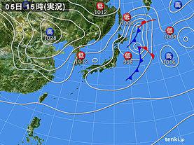 実況天気図(2019年10月05日)