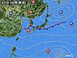 2019年10月07日の実況天気図