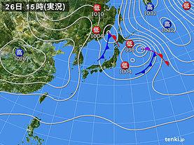実況天気図(2019年10月26日)