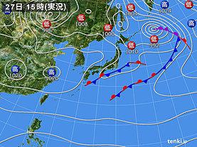 実況天気図(2019年10月27日)