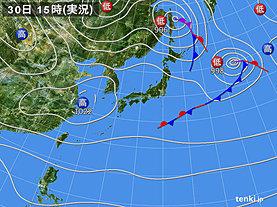 実況天気図(2019年10月30日)