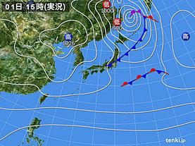 実況天気図(2019年11月01日)