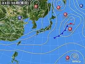 実況天気図(2019年11月04日)