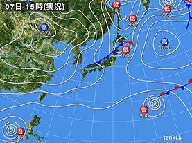 実況天気図(2019年11月07日)