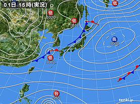 実況天気図(2019年12月01日)