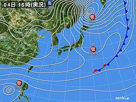 実況天気図(2019年12月04日)