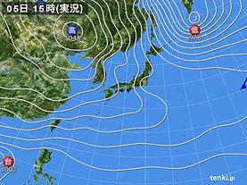 実況天気図(2019年12月05日)