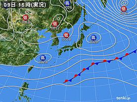 実況天気図(2019年12月09日)