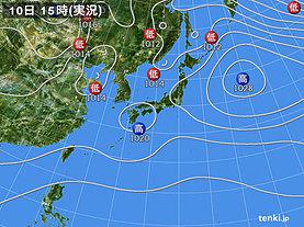 実況天気図(2019年12月10日)