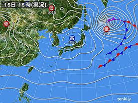 実況天気図(2019年12月15日)