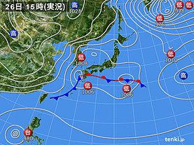 実況天気図(2019年12月26日)