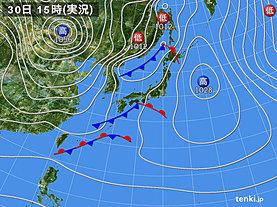 実況天気図(2019年12月30日)