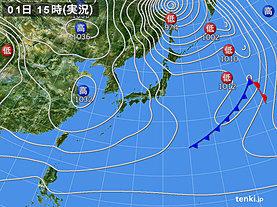 実況天気図(2020年01月01日)
