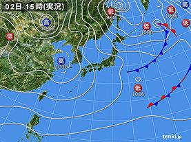 実況天気図(2020年01月02日)