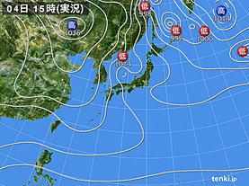 実況天気図(2020年01月04日)