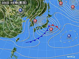実況天気図(2020年01月08日)