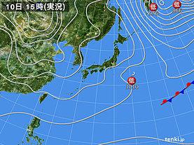 実況天気図(2020年01月10日)