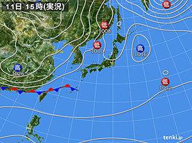 実況天気図(2020年01月11日)