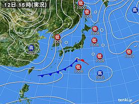 実況天気図(2020年01月12日)