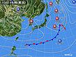 2020年01月13日の実況天気図
