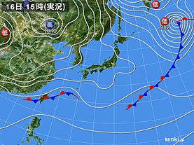 実況天気図(2020年01月16日)