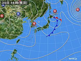 実況天気図(2020年01月20日)