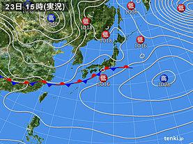 実況天気図(2020年01月23日)
