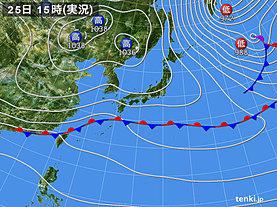 実況天気図(2020年01月25日)