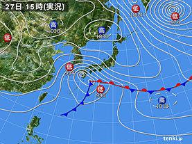 実況天気図(2020年01月27日)