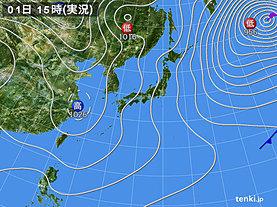 実況天気図(2020年02月01日)