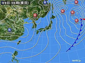 実況天気図(2020年02月09日)