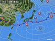 2020年02月14日の実況天気図