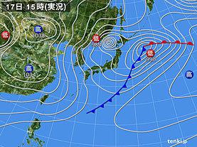 実況天気図(2020年02月17日)