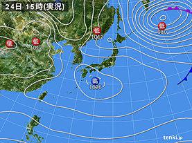 実況天気図(2020年02月24日)