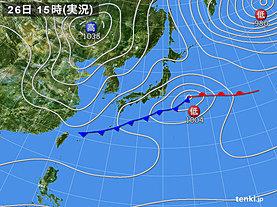 実況天気図(2020年02月26日)