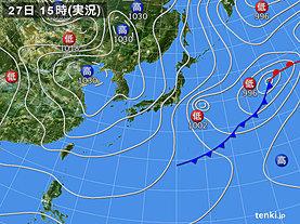 実況天気図(2020年02月27日)
