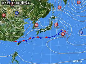 実況天気図(2020年03月01日)