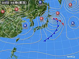 実況天気図(2020年03月05日)