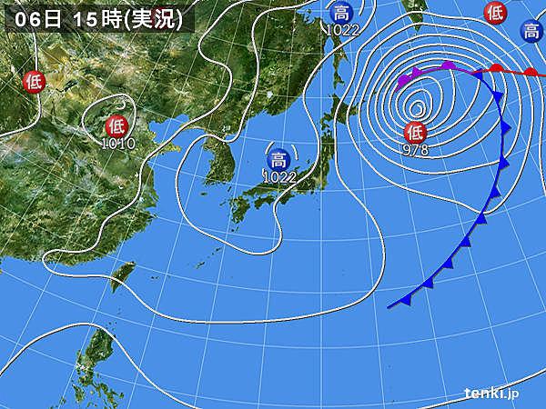 実況天気図(2020年03月06日)