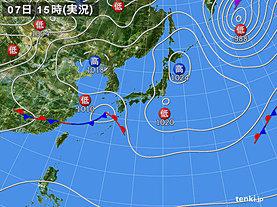 実況天気図(2020年03月07日)