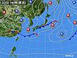 2020年03月22日の実況天気図