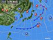 2020年03月23日の実況天気図