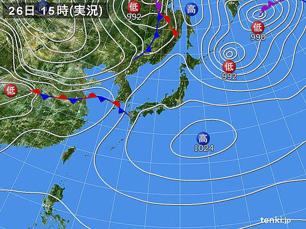 実況天気図(2020年03月26日)
