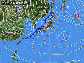 実況天気図(2020年03月27日)