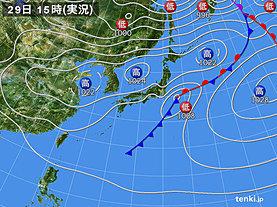 実況天気図(2020年03月29日)