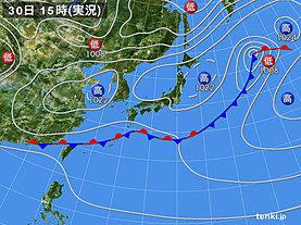 実況天気図(2020年03月30日)