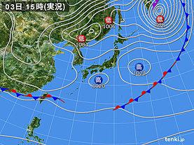 実況天気図(2020年04月03日)
