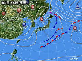実況天気図(2020年04月05日)