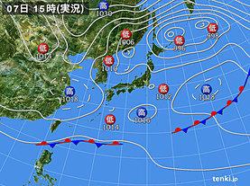 実況天気図(2020年04月07日)